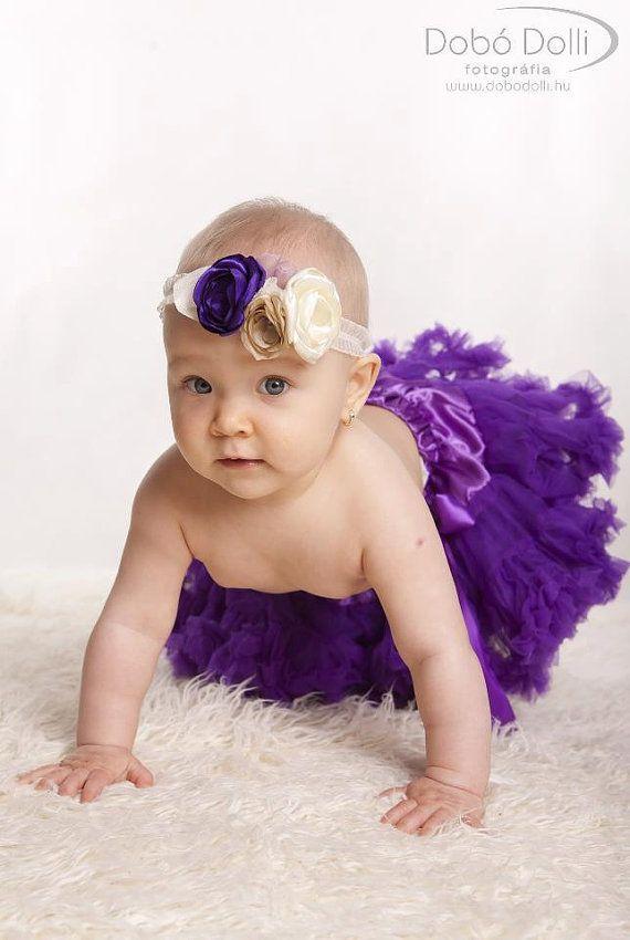 Baby Girl Headband - Baby Headband - Flower Headband - Vintage Baby Headband - Flower Girl Headband - Over the Top Headband