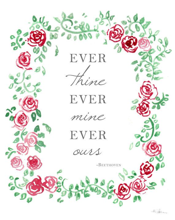 Ever Thine Ever Mine Ever Ours. Beethoven by AmandineRoseDesigns, £13.00