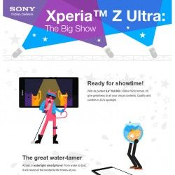 Discover all the possibilities of the Xperia Z Ultra. From its 6.4'' screen to its water resistance capacity and the possibility of using ballpoint pe