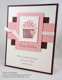 Create a Cupcake Stamp Set - Excited because I just ordered this set and the punch! Can't wait to try it out.