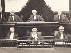 Tasmanian Court Records Judges in court - Court records can be a valuable source of information for family historians. Early trial records can be scant but newspaper accounts often compensate. The following should prove useful for criminal and civil prosecutions.