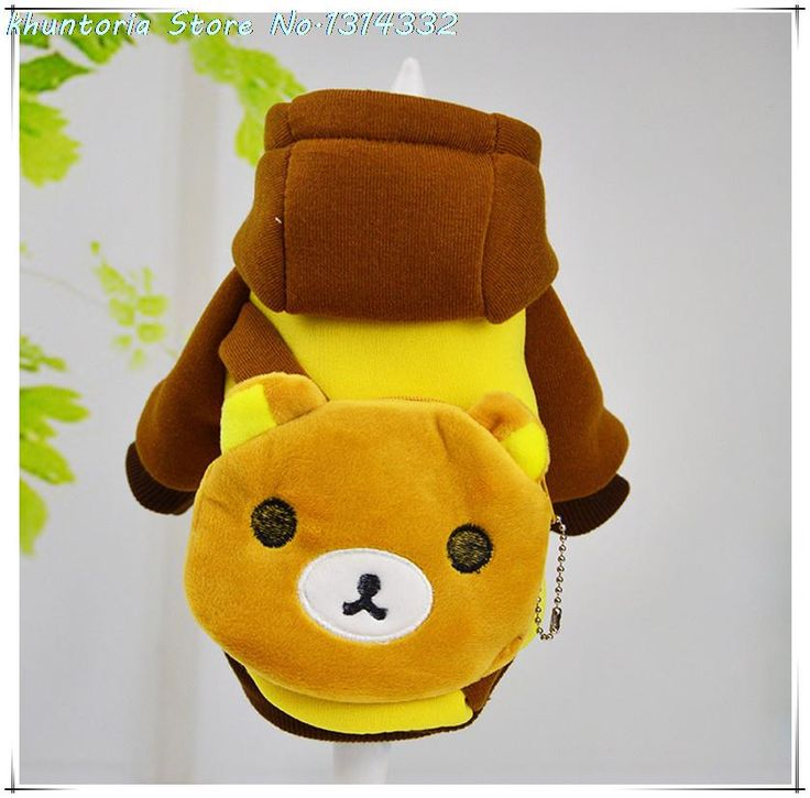 2016 New Bear style pocket Winter Warm Pet Dogs Clothes Soft Puppy Cat Coat Hoodie Costumes Clothing for Dog Chihuahua 10 Models