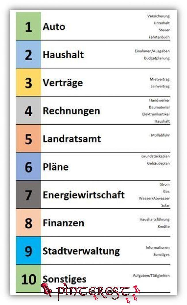 Ordnerregister Vorlage Deckblatt Gratis Word 13