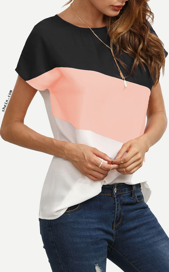 Buttoned Closure Back Cut And Sew Cap Sleeve Top