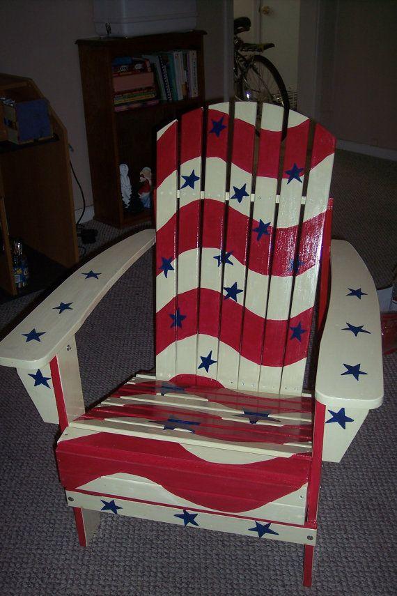 Patriotic Adirondack Chair