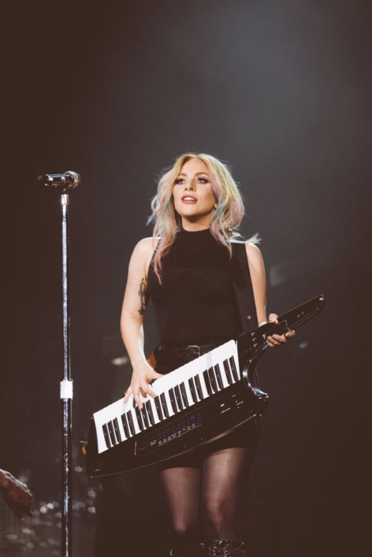 Lady Gaga debuting her new singla 'The Cure' at Coachella Day 2. Follow rickysturn/amazing-women
