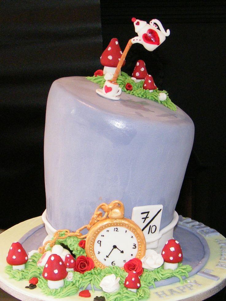 Mad Hatters Cake  on Cake Central