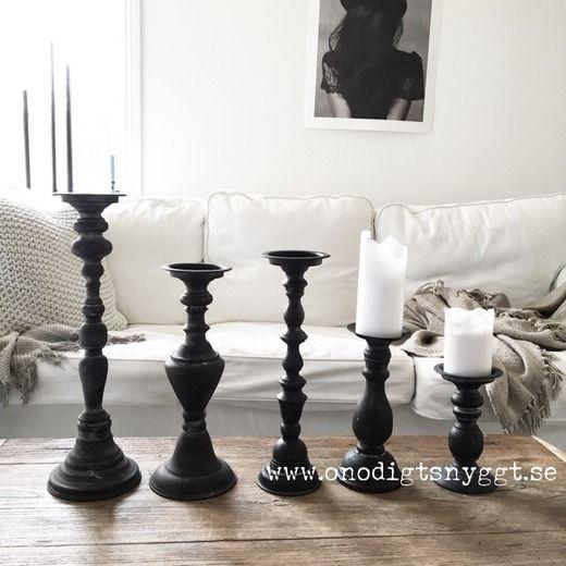 Cozy Room Ljusstakar för Blockljus (Fem olika höjder)