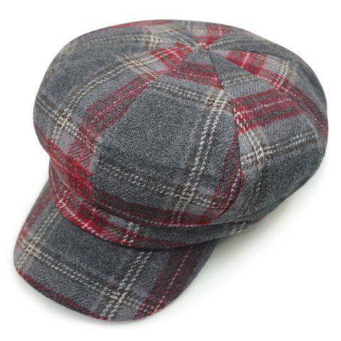 Stylish Checkered Pattern Casual Style Newsboy Hat For Women