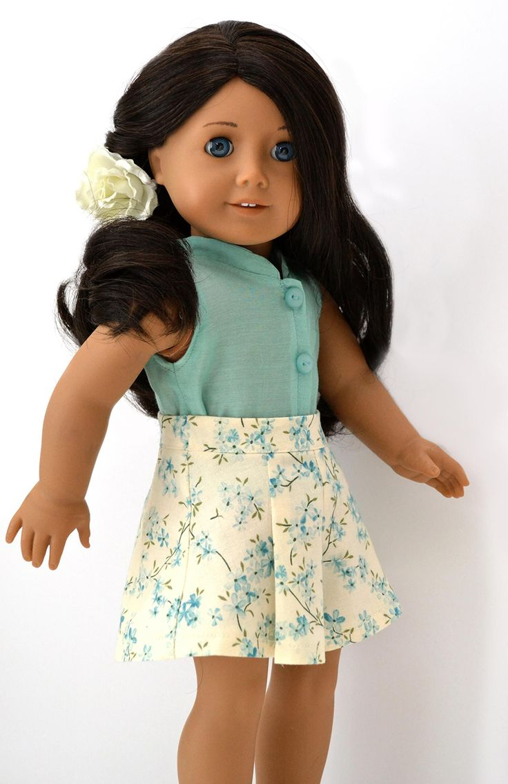 "Oahu 1940s Culottes for 18"" American Girl #dolls 