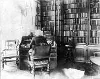 Frederick Douglass in his Library on Digital History