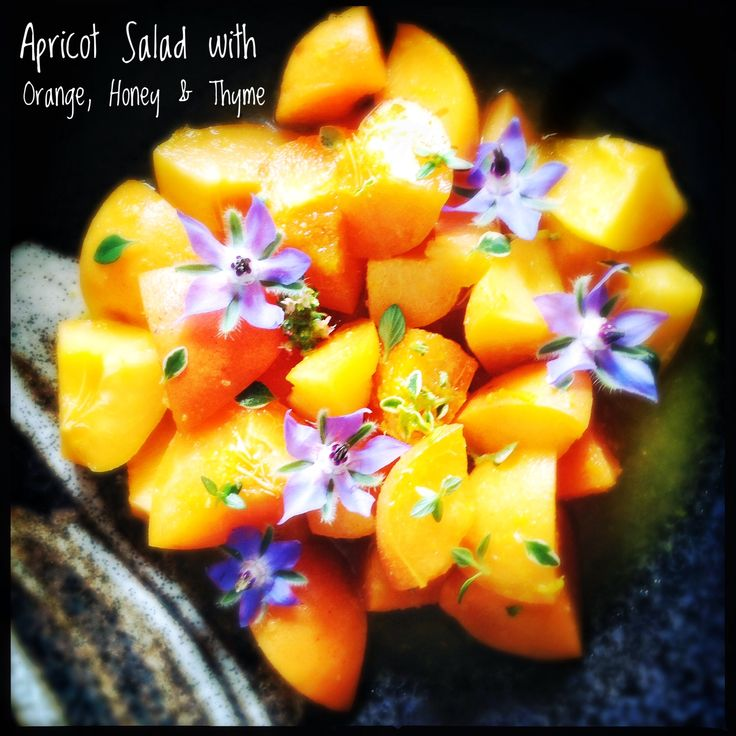 Summery Apricot Sweet Salad with Orange and Thyme