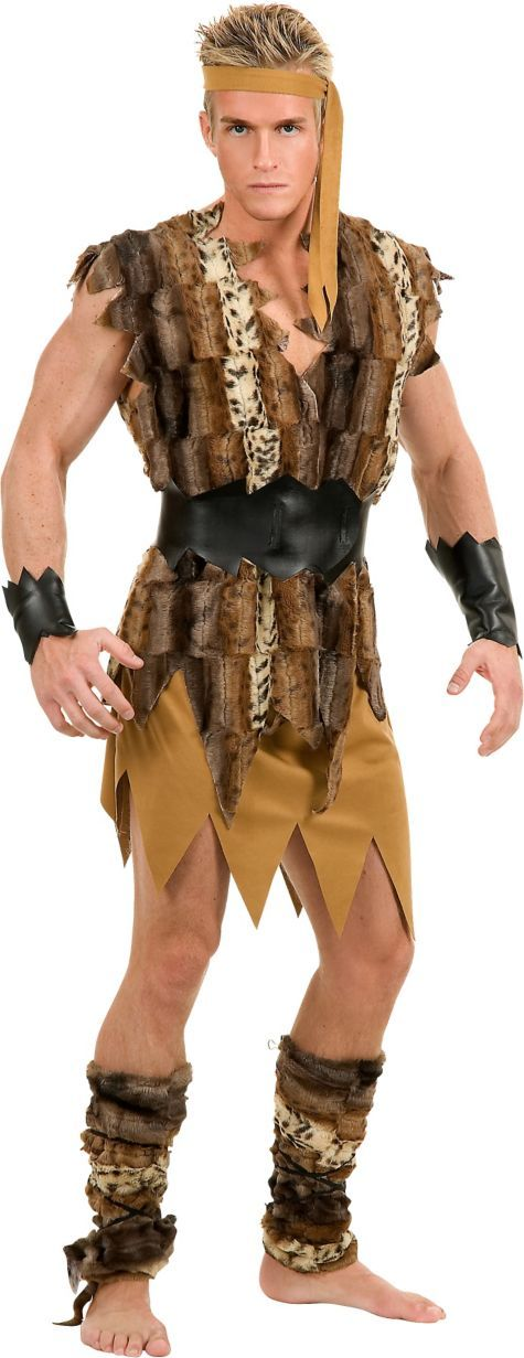 Adult Cool Caveman Costume - Party City