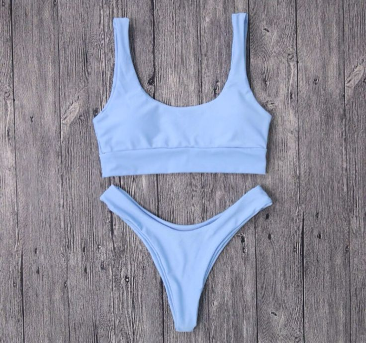 Seamless Minimalist Luxe Sporty Bikini Top and Cheeky Bottom Periwinkle With Support Band by TheCraftingTater on Etsy https://www.etsy.com/listing/543740260/seamless-minimalist-luxe-sporty-bikini