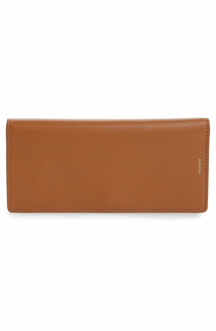 Main Image - Skagen Slim Leather Wallet