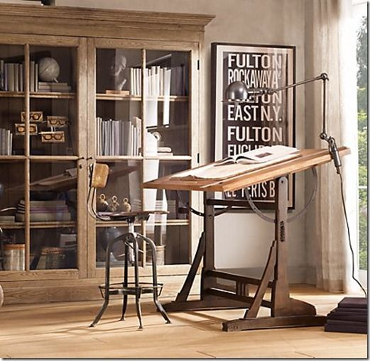 Beautiful Vintage Toledo Stool And Drafting Table. A Beautiful Workstation.