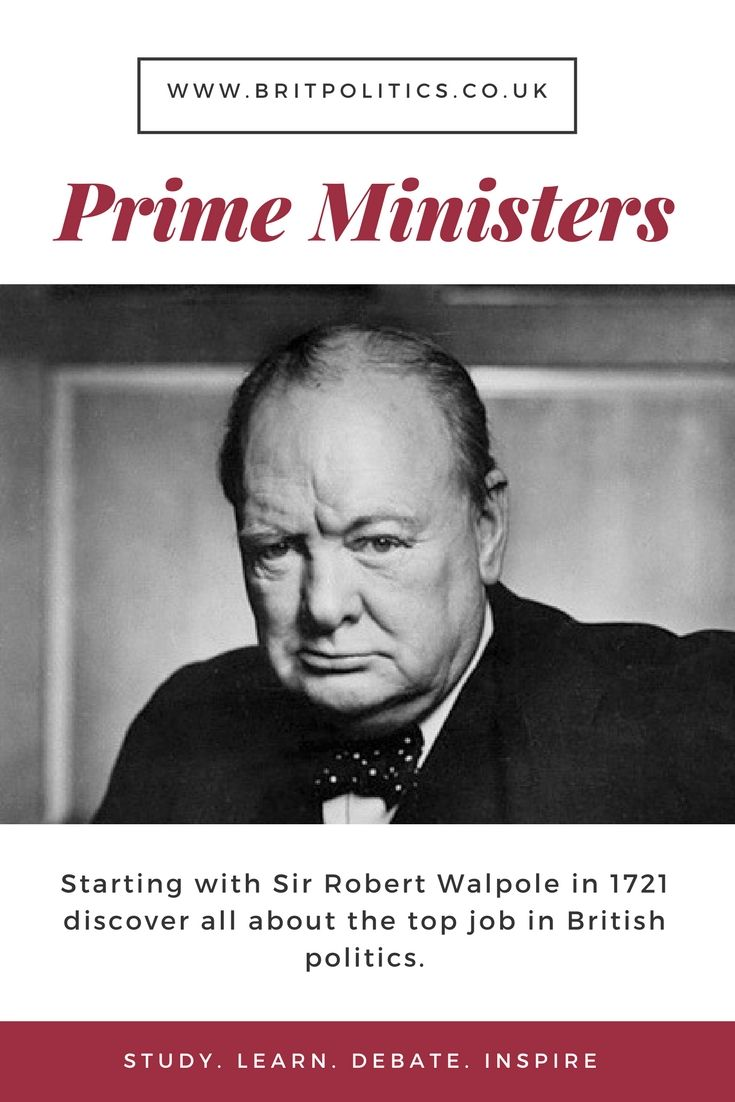 From Sir Robert Walpole in 1721 discover all about the top political in Great Britain - The Prime Minister.