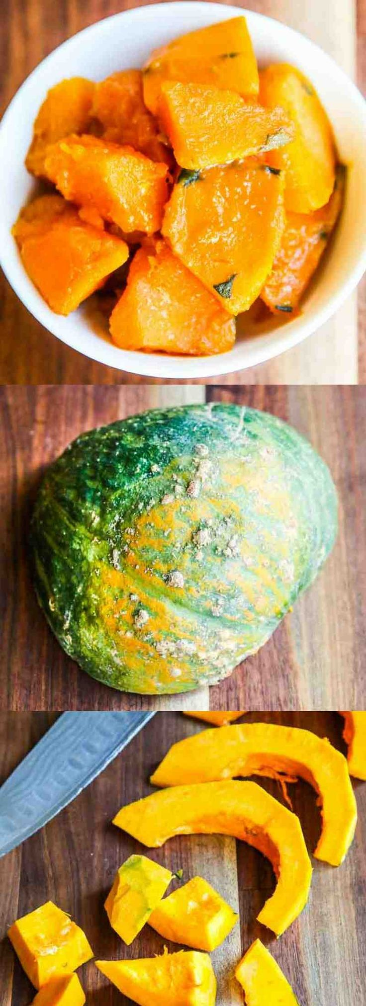 Japanese Braised Kabocha Squash - this simple braised squash dish is a wonderful side dish and reheats well.