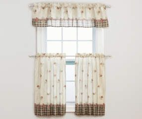 buy a pinecone tier u0026 valance 3piece set at big lots for less curtain rod