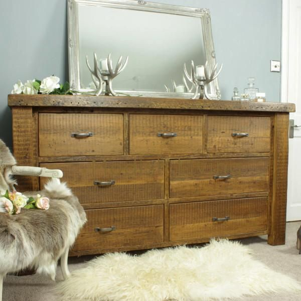 Large Moss Reclaimed Wood Chest Of Drawers - Modish Living: part of our free bespoke design service
