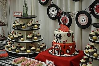 Cherry coke cupcakes & 50's diner cake! Fun