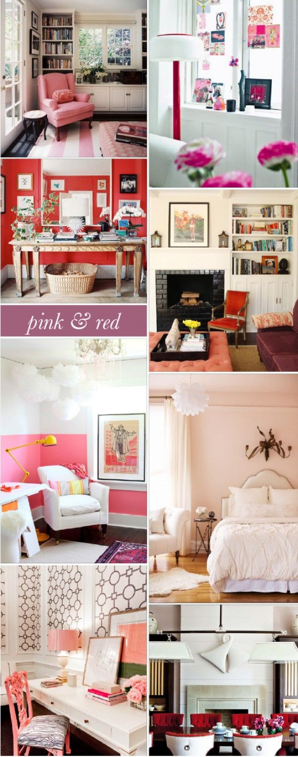 Interior Style File: Pink & Red --Valentine's Day colored rooms.