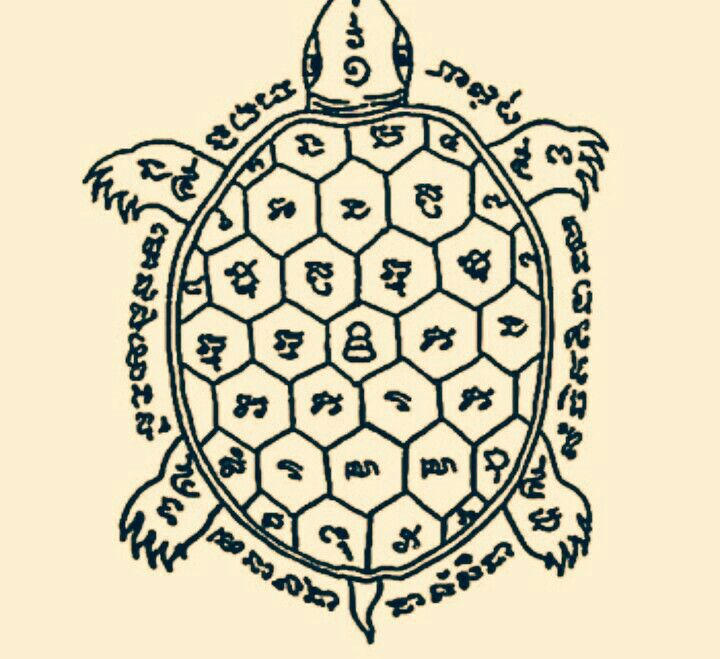 Yant Phaya Tao Ruen. This yant is believed to support wearers to be lucky in every aspect of life.