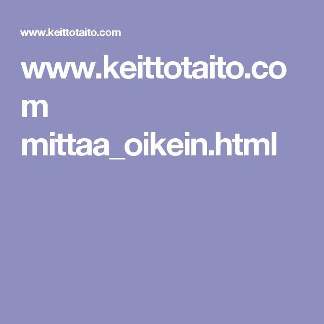 www.keittotaito.com mittaa_oikein.html