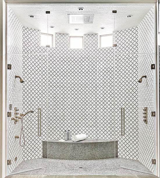 bhg bathrooms curved shower 2 person shower two. Black Bedroom Furniture Sets. Home Design Ideas