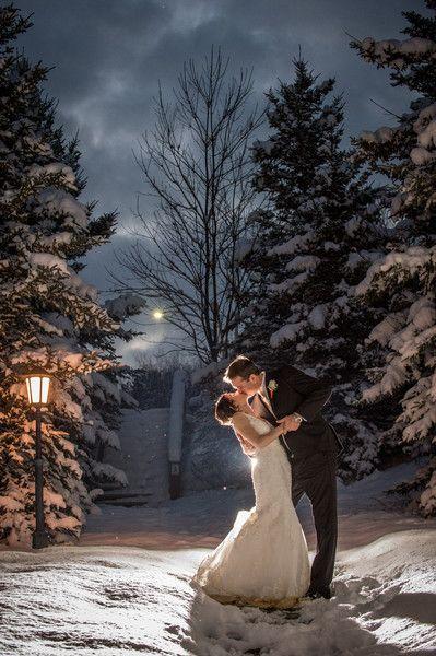 Snowy New York Lodge Wedding