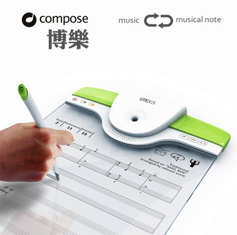 Composing made easy. Just write your music then the board will play it back for you! I WANT!!!