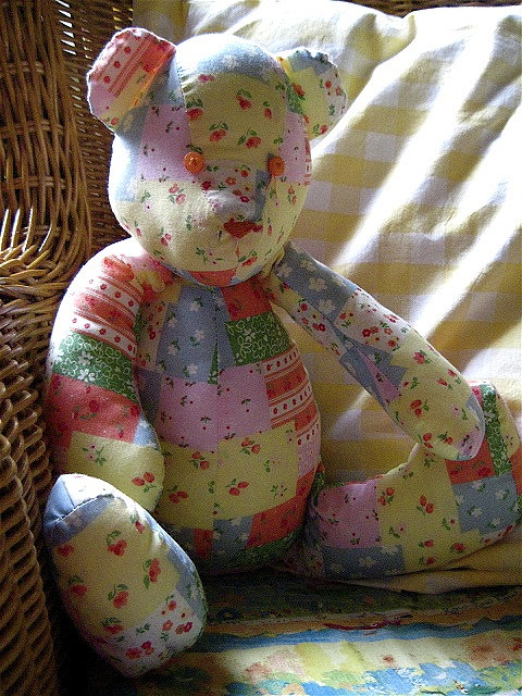 Patchwork Teddy So Cute Pinterest Amor Keepsakes
