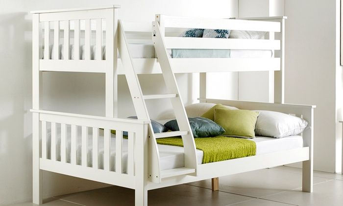 Groupon Goods Global GmbH: Atlantis Triple Sleeper Bunk Bed (£269.99) With Mattress (£389.99) With Free Delivery (Up to 55% Off)
