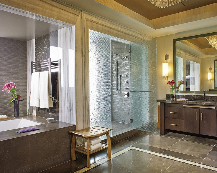 Superbe The Master Bathroom In Our Penthouse Suite Has Been Designed With Sleek  Glass Tiles, Exotic