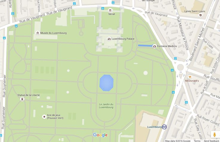 Luxembourg Garden Map