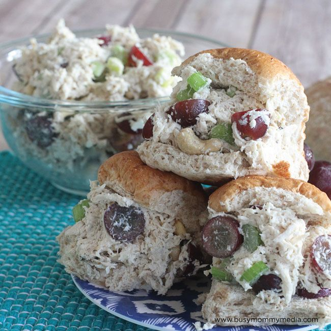 This classic chicken salad recipe is so easy to make though that there's no reason to not make it more often! I threw this together (with a huge time saving tip) and my whole family loved it! This chicken salad is packed with grapes, celery, and cashews to give it a nice crunch and the flavor is AMAZING!