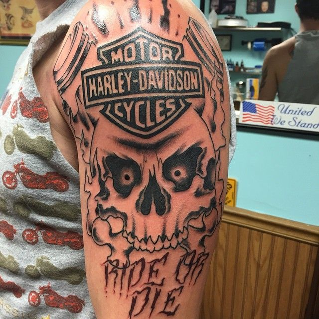 157 best images about tattoo ideas on Pinterest | Blue line, Flag tattoos and Harley davidson logo