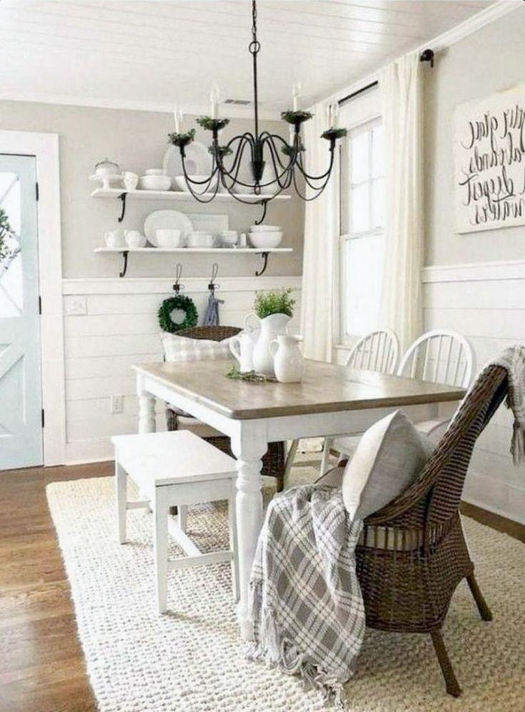 Mountain Home Decor In 2021 Farmhouse Style Dining Room Dining Room Combo Dining Room Makeover