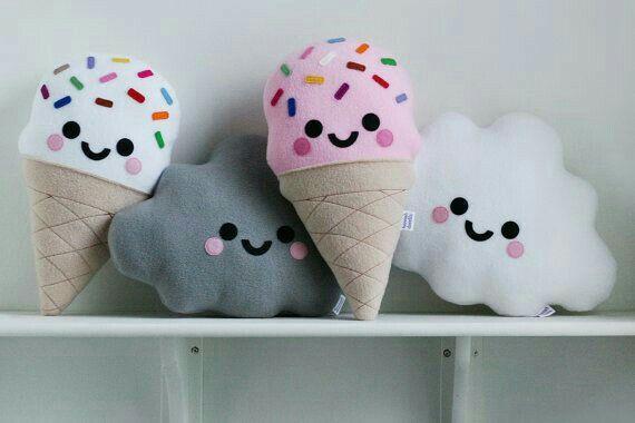 Almohadones de nueva y helados
