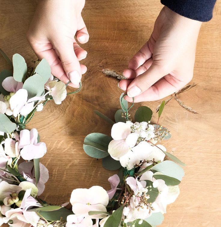 DIY floral wreath – wedding inspirations – #flower wreath #DIY #wedding inspirations