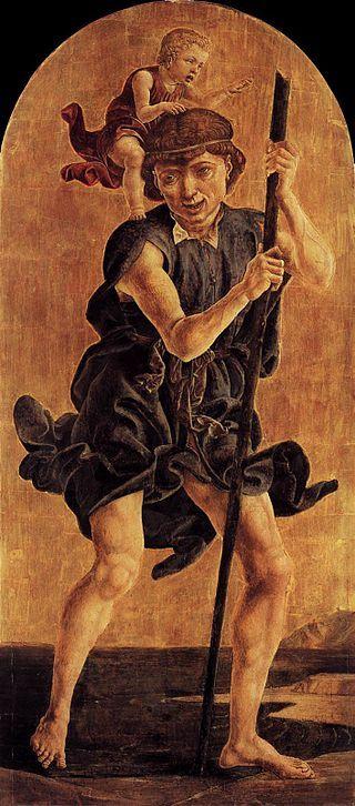 Cosmè tura, san cristoforo - San Domenico (Cosmè Tura) -
