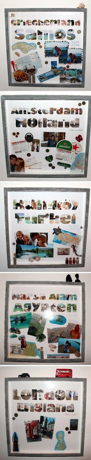 DIY Bilderrahmen Urlaubserinnerungen: DIY, Basteln, Selbermachen, Urlaubserinnerungen, Urlaub, Bilderrahmen, Aufbewahrung, Erinnerungen, Dekoration, Geschenke, Geschenkideen...