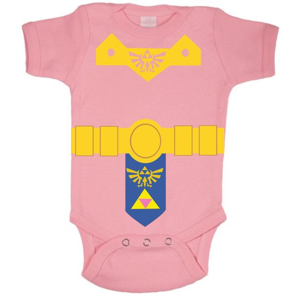 Legend Of Zelda Onesie, Baby Shower Gift, Legend Of Zelda Costume,... ($20) ❤ liked on Polyvore featuring baby