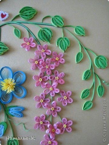 Картина панно рисунок День семьи Аппликация Квиллинг Семейное гнёздышко Бумажные полосы Картон Клей фото 14