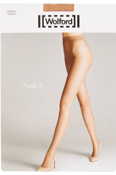 Wolford - Nude 8 Denier Tights - Sand - large