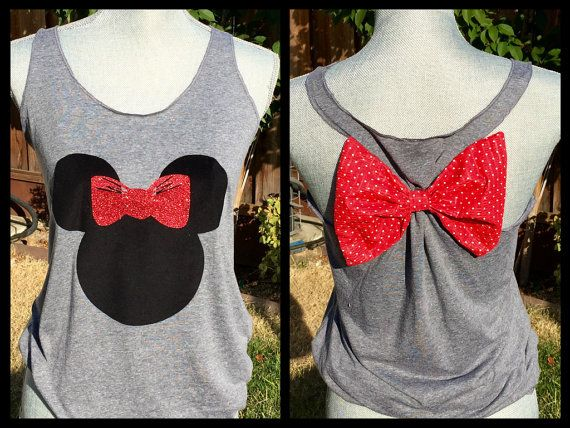 Minnie Mouse Silhouette Disney Tank Top by MissBiziBee on Etsy