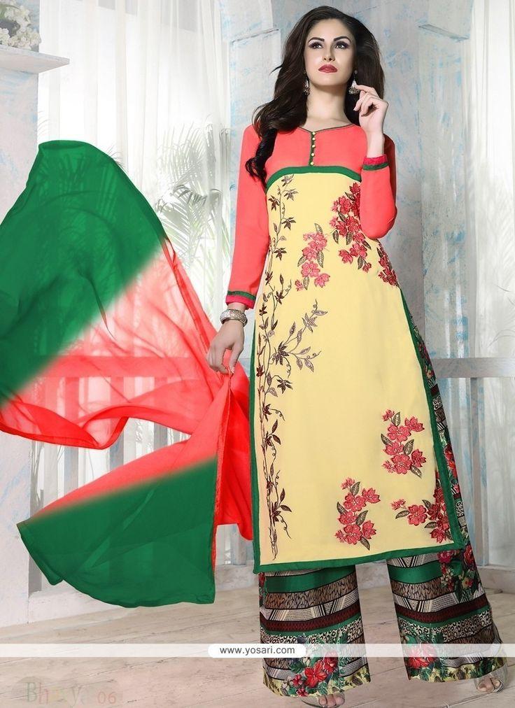 Pretty Georgette Designer Palazzo Salwar Kameez Model: YOS8103