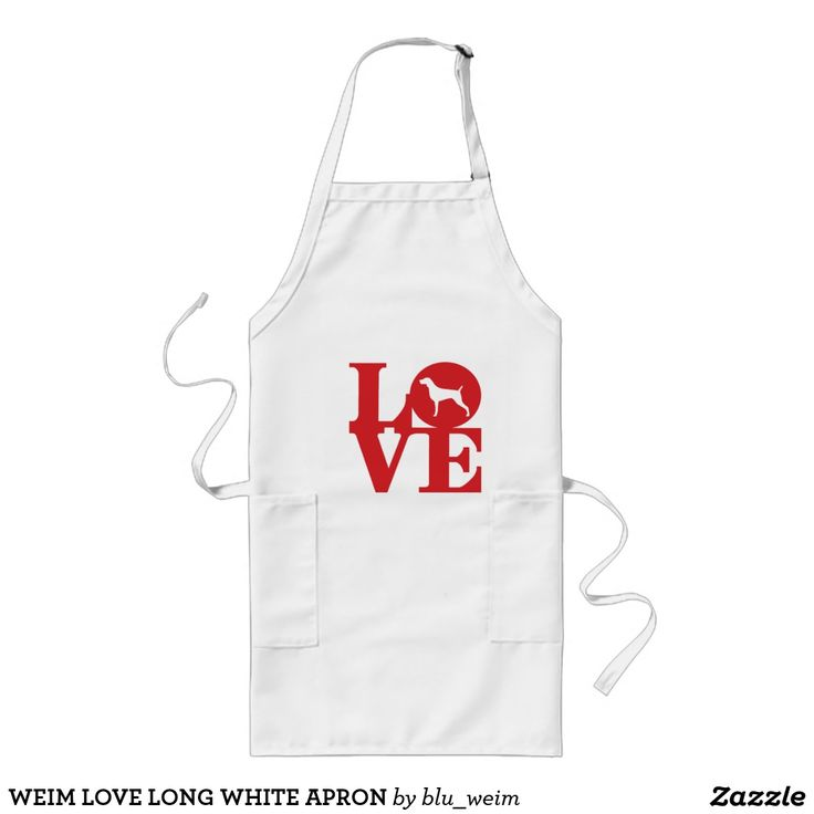 WEIM LOVE LONG WHITE APRON