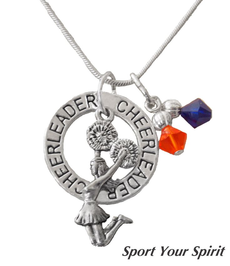 Personalized, Cheerleader Necklace, Team Color, Power Cheer,Cheer Jewelry,Cheer Gift,Cheerleading Necklace, Cheer Captain, (Made to Order) by SportYourSpirit on Etsy https://www.etsy.com/listing/130461441/personalized-cheerleader-necklace-team