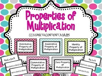 This product will allow your students to practice using equations to identify the 6 properties of multiplication including the Identity Property, The Zero Property, The Associative Property, The Distributive Property, and The Commutative Property.There are 36 different sorting cards in this set and display cards for each of the 6 properties.